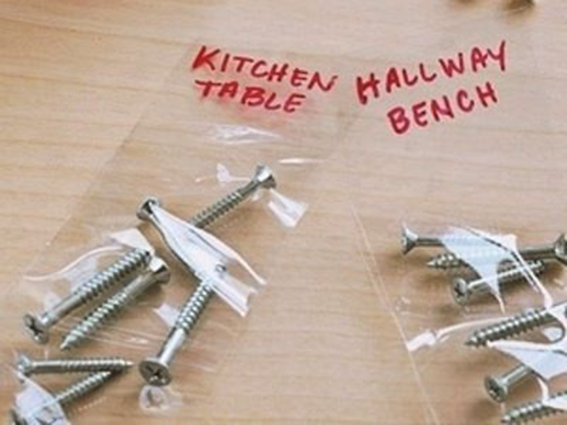 Bolts and Screws Organized